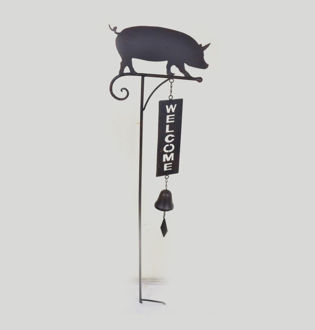 Welcome stecker schwein dekor garten for Dekor garten schirrle