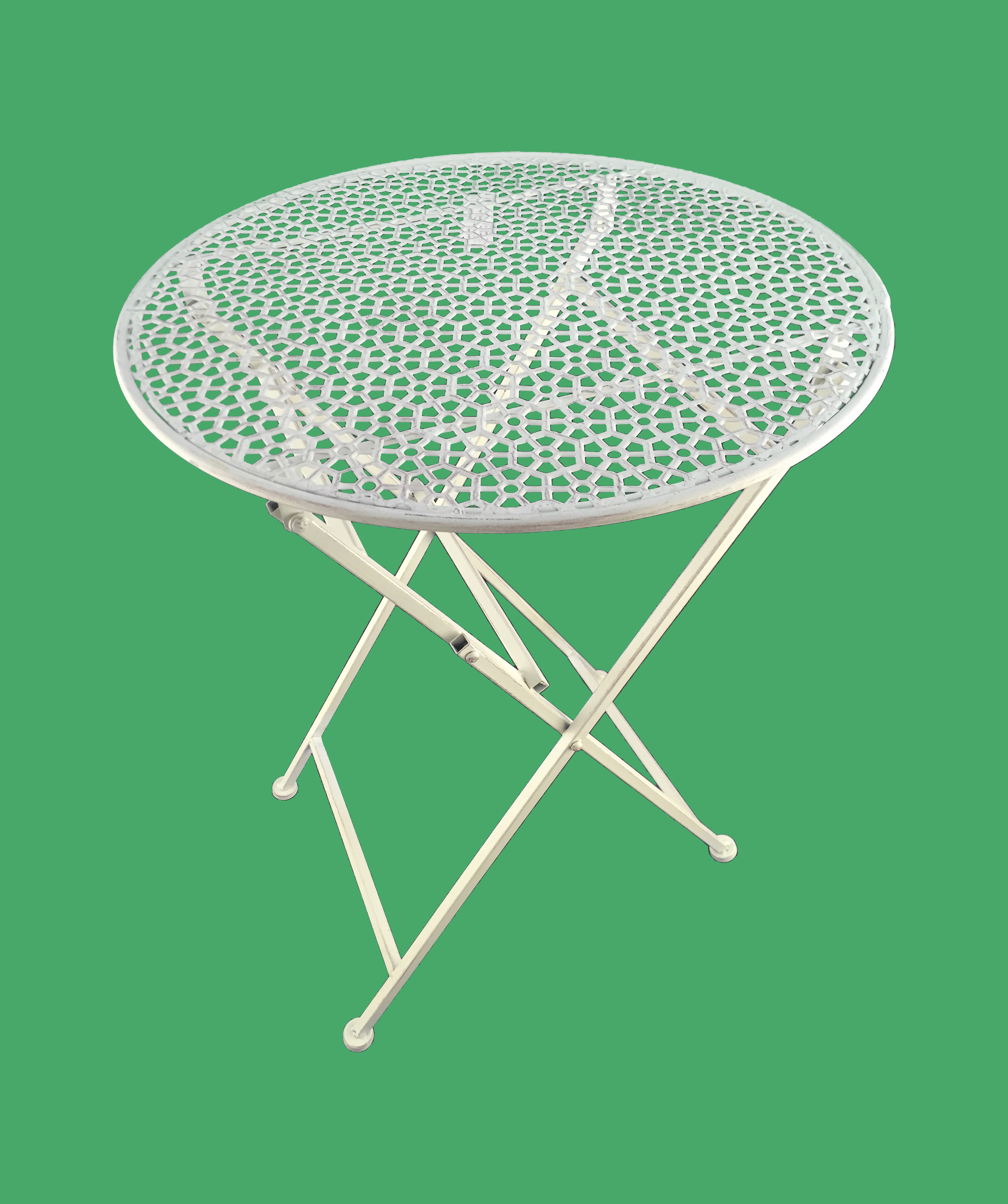 Ehrfürchtig Gartentisch Rund Metall Design