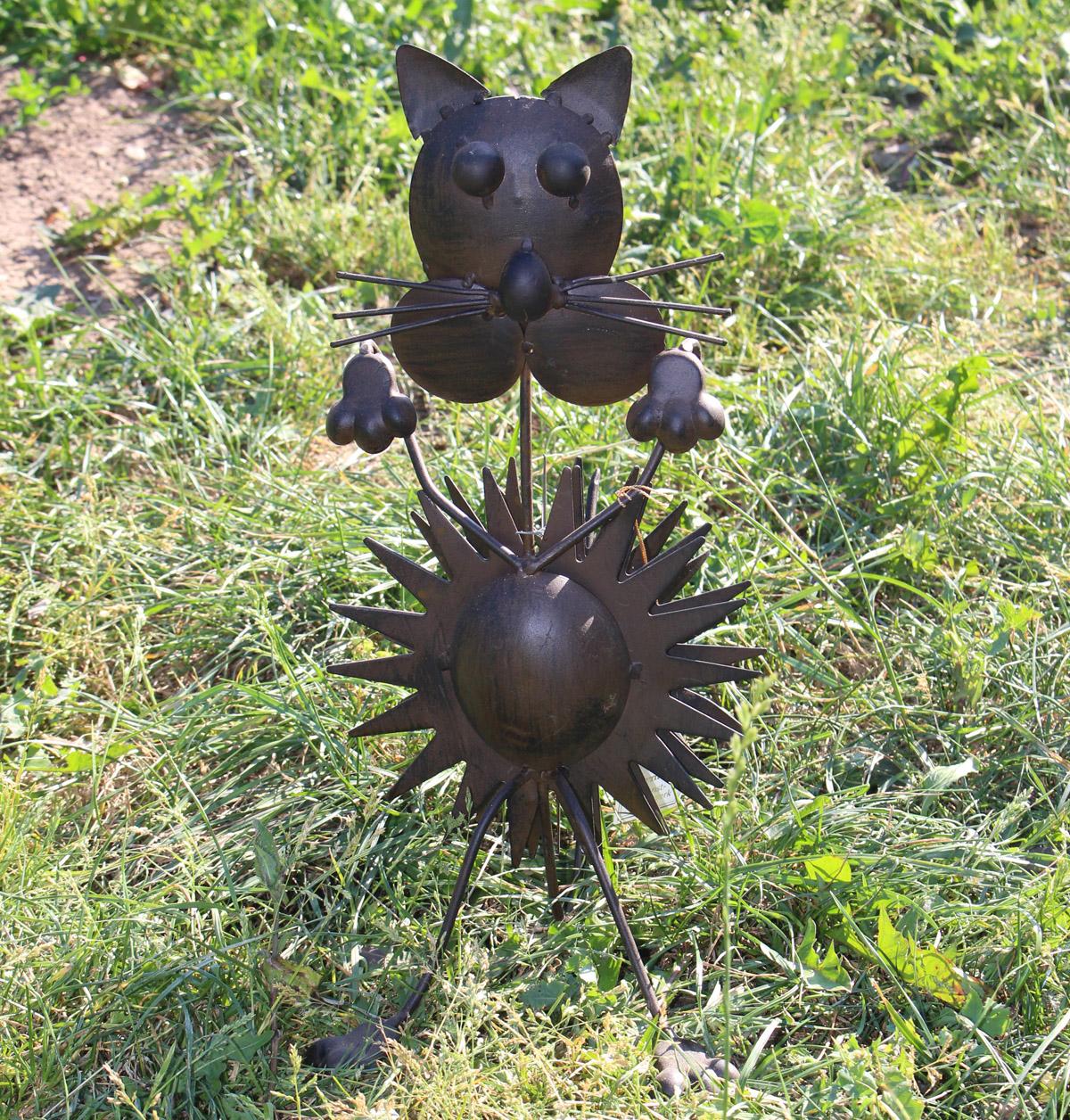 Katzenfigur aus metall dekor garten for Dekor garten schirrle